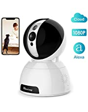 [Works with Alexa] 2MP Cloud Smart Wifi Camera,Wireless Monitor Cam with 2-Way Audio,350x100°Pan/Tilt,Night Vision,Motion Detection&Alarm,Watch Smooth Live Video from Anywhere,Cloud Service,1080P