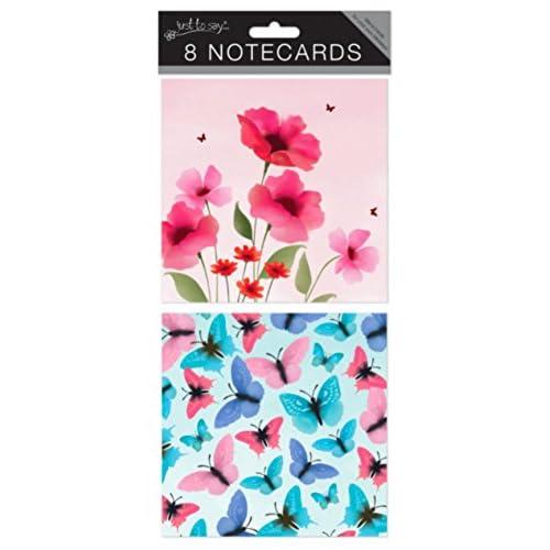 """Just To Say Lot de 8cartes vierges-Carton 4098Fleurs & Papillons"