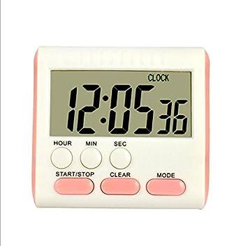 SYT Alarm Clock Gran Pantalla LCD Temporizador Digital de ...