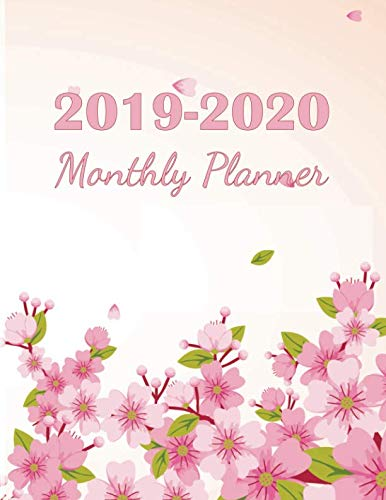 2019-2020 Monthly Planner: 2019-2020 Yearly Planner and 24 months calendar planner with journal page | Cherry Blossom Design (2019-2020 calendar planner) ()