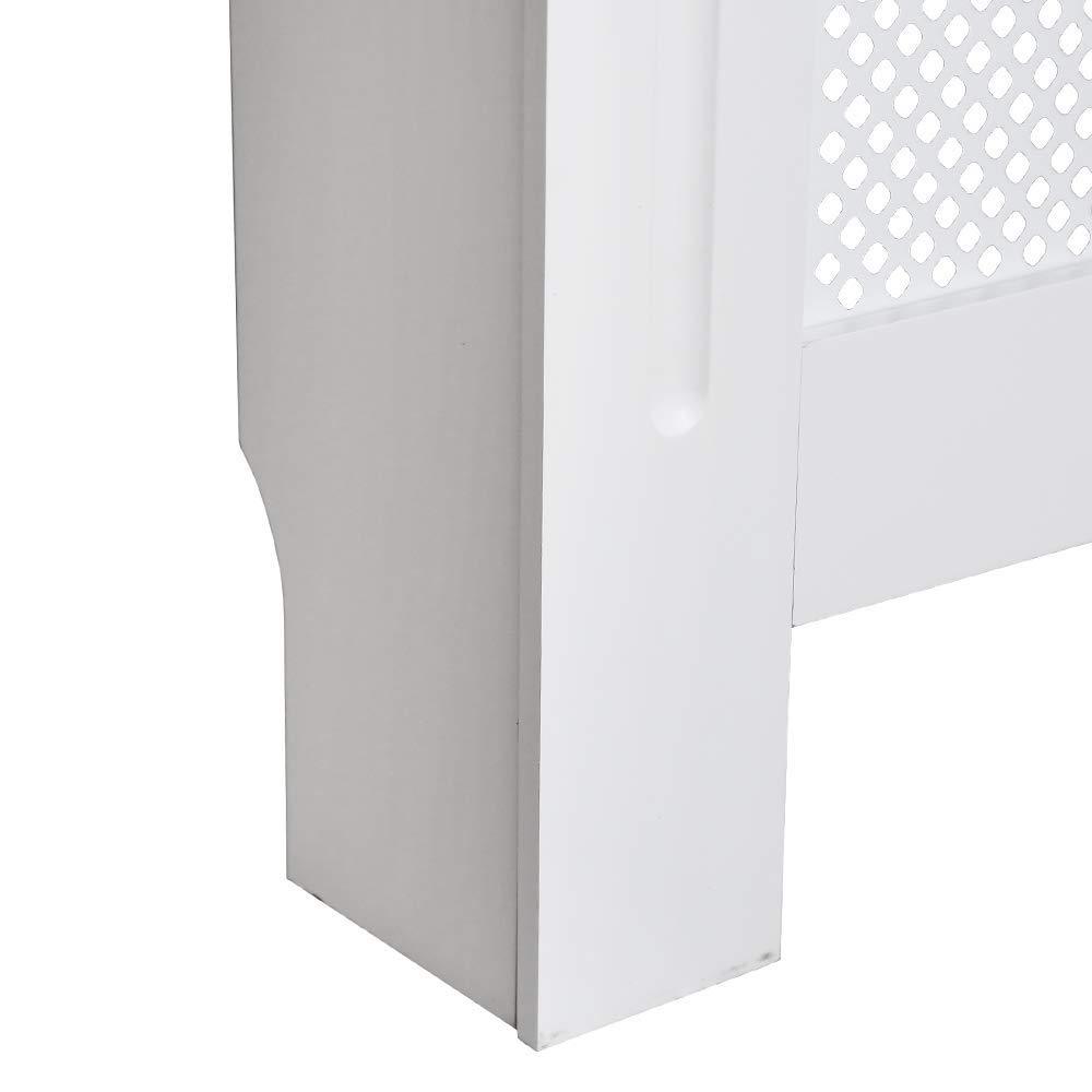 CFVSDEV verticale stile moderno 172 x 19 x 81,5 cm misura XL Copritermosifone in MDF laccato bianco