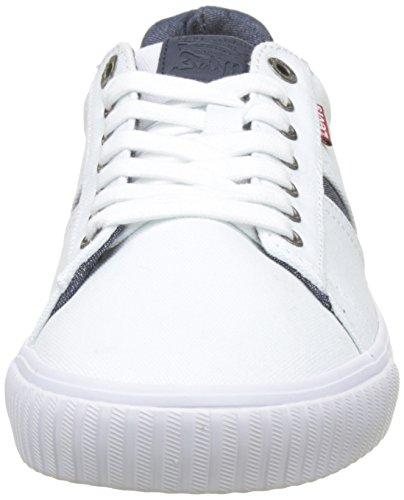 51 Levi's Blanc Skinner Noir Baskets Regular Homme White ffzS80w