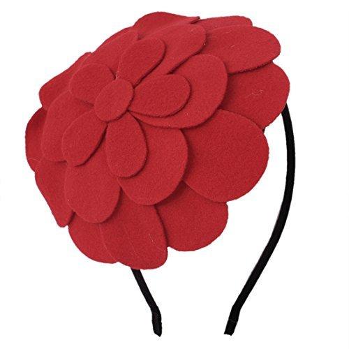 DealMux Flower Petal Hat Decor Nylon Coated Metal Hairband Hair Hoop for Lady (Nylon Decor Flower)