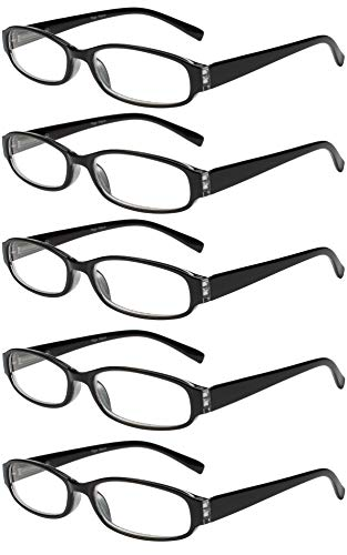 Reading Glasses 5 Pairs Spring Hinge Fashion Quality Readers for Men and Women ()