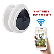 Mini Wireless Home Camera BAVISION WiFi Office Security IP Cameras Nanny Cam Video Monitor Baby,Dog Camera,Elderly Care with Night Vision Two Way Audio Easy Setup