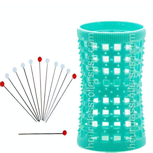 Hourglass Hair Rollers - Aqua