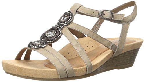 Rockport Women's Hannah Platform Sandal, Khaki, 7 M US