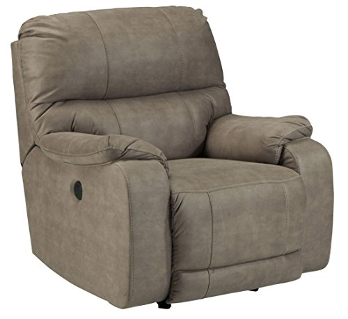 Ashley Bohannon Fabric Power Rocker Recliner in Taupe (Rocker Recliner Taupe)