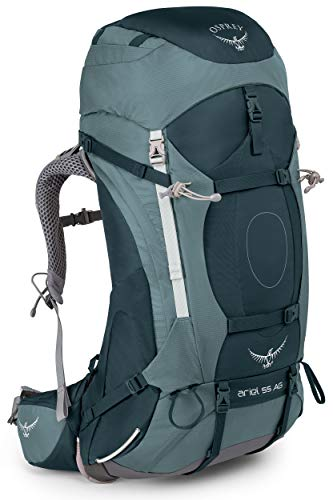 Osprey Packs Women s Ariel AG 55 Backpack, Boothbay Grey, X-Small