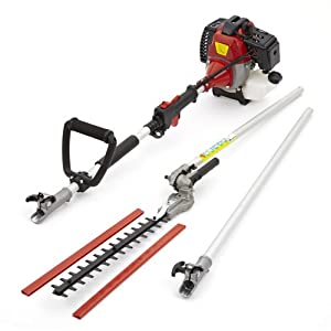 41yVmHbkfXL. SS300  - TRUESHOPPING Petrol Long Reach Hedge Trimmer - Ideal for Trimming, Pruning & Cutting Shrubs, Bushes, Hedges and Branches - Air-Cooled Vertical Cylinder and Automatic Transmission - 52cc, 2.2KW & 3HP