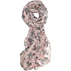 Ted and Jack - I Love My Cat! Allover Print Scarf (Pink)