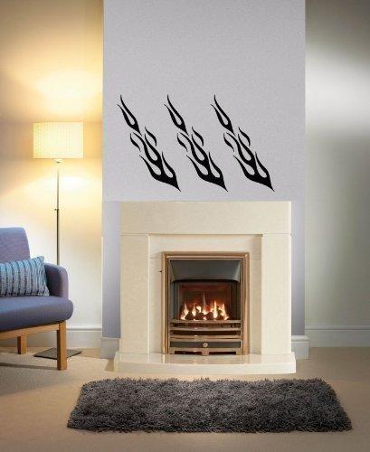 Amazon.com: Vinyl Decal Mural Sticker Fire Fulmine Flame Ar1601 ...