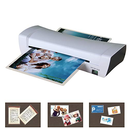 MiSide Thermal Laminator Machine,Suitable for MAX A4 Paper,(with 20 PCS A4 - Laminator Pouch 10 Inch