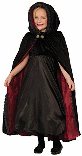 - Forum Novelties Kids Gothic Vampiress Cape Costume, Black, One Size