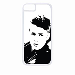 justin beiber - black and white art - Hard White Plastic Snap - On Case-Apple Iphone 6 Only - Great Quality!