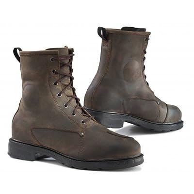 TCX 7300W X-Blend WP Vintage Men's Street Motorcycle Boots - Brown Size Eu 46 / Us 12: Automotive