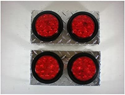Closertowholesale Double White 6 Oval Mounting Boxes for LED Brake Stop Turn Tail Lights