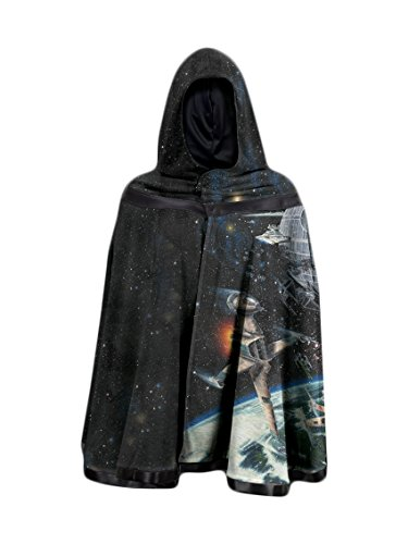 Star Wars Galaxy Reversible Hooded Cloak - Black (Medium)