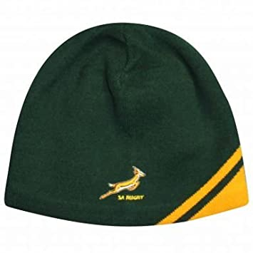 South Africa Springboks Rugby Beanie Hat by ASICS  Amazon.co.uk ... cf917592e44
