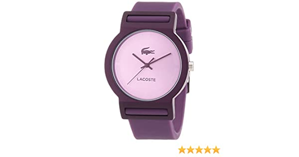Amazon.com: Lacoste Tokyo Womens Fashion Watch Purple Silicon Strap 2020075: Lacoste: Watches