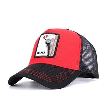 Gorra de béisbol de malla animal bordado Gorras de béisbol Hombres ...