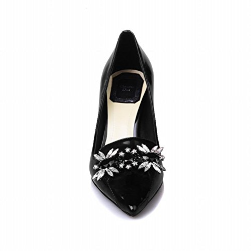 Charm Foot Womens Pointed Toe Stilettos High Heels Dress Pumps Black 1tc0tIgFC