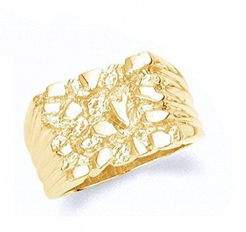 10k Gold Mens Nugget Ring (8.25) (10k Nugget Ring Gold)