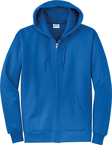 Port & Company Men's Classic Full Zip Hooded Sweatshirt XXL Royal