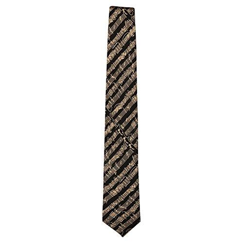 Unisex-Adult Mozart Music Notes Silk Necktie - Black