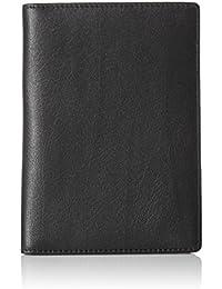 Leather RFID Blocking Passport Holder Wallet - 6 x 4 Inches, Black