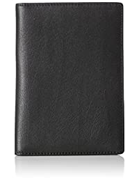 AmazonBasics Leather RFID Blocking Passport Wallet, Black