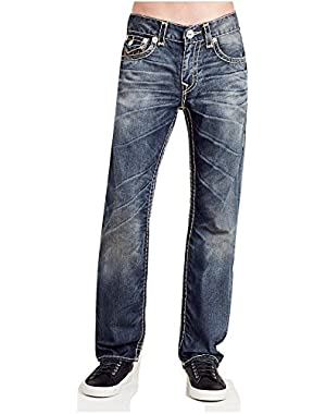 Men's Straight Leg Relaxed Fit Super T Stitch w/ Flap Jeans in Twenty Two