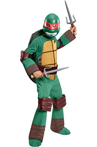 Teenage Mutant Ninja Turtles Deluxe Raphael Costume, Small (Best Haloween Costumes)