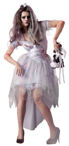 King Party 214913 Zombie Bride Costume - Blanc - Large - 10-12