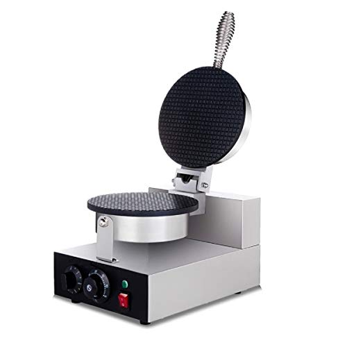 (Cypress Shop Commercial Electric Ice Cream Cone Machine Egg Roll Maker Stainless Steel Egg Waffle Cone Maker Machine 110Volt for Commercial and Home Uses)