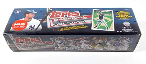 2017 Topps Baseball Card Factory Sealed Complete Set with Exclusive Jeter Chrome Card (Topps 2015 Baseball Card Packs)