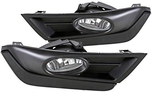 Spec-D Tuning for Honda CR-V CRV Clear Driving Fog Lights Black Bezel w//Switch Pair