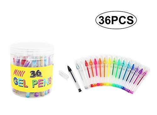 SKKSTATIONERY 36 Pcs Mini Glitter Gel Pens, 3.5