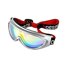 BXT Kids Children Junior Boys Girls Professional UV400 Colored Lens Sports Windproof Anti-fog Snowmobile Snowboard Bicycle Skate Protective Glasses Eyewear Ski Snow Goggles