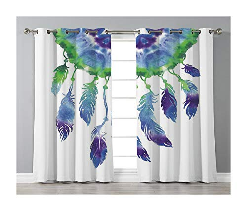 Goods247 Blackout Curtains,Grommets Panels Printed Curtains Living Room (Set of 2 Panels,55 84 Inch Length),Native American -