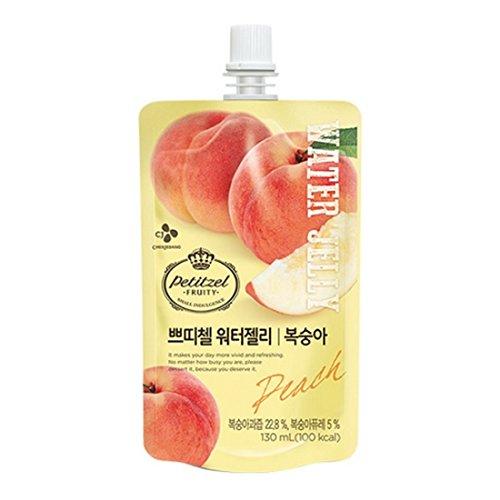 [5packs] CJ Petitzel Water Jelly (Peach) 130ml / Dessert / Fruit vegetable beverage / Korean food