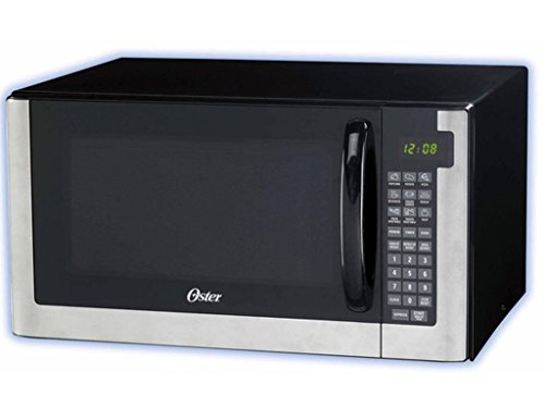 1.4-Cubic Foot Stainless Steel Digital Microwave Oven, Digital Clock and LED Display