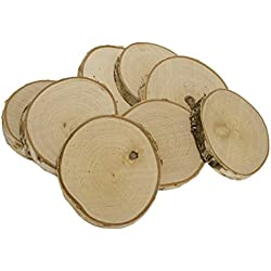 Walnut Hollow Bulk Rustic Weddings & Craft Projects, Birch Coasters 8 Piece Pack