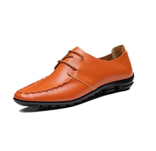 Souple Couleur Ruban Point Cuir Hommes Casual Orange Bottes Sandales Ronde Saison Point D'affaires zmlsc Chaussures en Sport Toile q40WFCgw