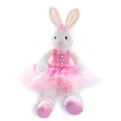 Toy Pink Rabbit - Wewill Original Adorable Plush Ballerina Bunny Stuffed Animal Rabbit Doll 10-Inch (Pink)