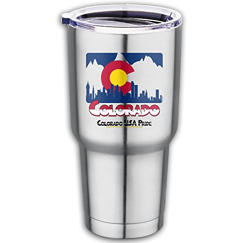 Colorado USA Pride Stainless Steel Tumbler Vacuum Insulated Travel Mug Coffee Cup