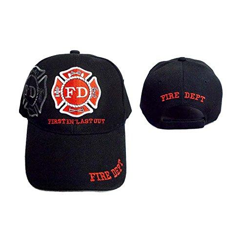 Officer Cap Ball - Fire Department, Fireman Officer Gear, Uniform Baseball Cap Hat, Adjustable