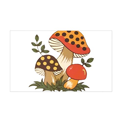 CafePress Merry Mushroom Sticker Rectangle Bumper Sticker Car Decal