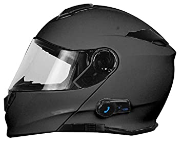 Origine Helmets Casco de moto Delta Solid Matt, desmontable, con Bluetooth integrado, color