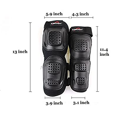 Runworld Adults 4Pcs Kit of Moto Elbow Knee Shin Armor Protect Guard Pads Accessories for Motorcycle Motocross Bike Bicycle Racing Protective Gear (Black51) : Sports & Outdoors